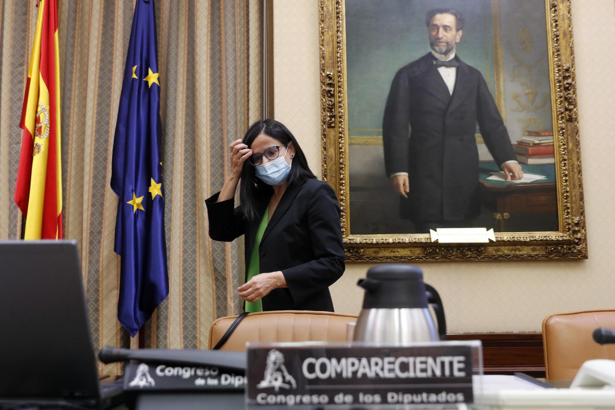 La presidenta de CEAP, Cinta Pascual, el viernes, en el Congreso.