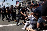 Manifestación este sábado, en California.