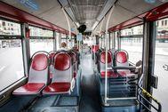 Un autobús de la EMT vacío
