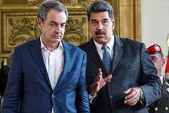 El ex presidente del Gobierno español, José Luis Rodríguez Zapatero, y el presidente venezolano, Hugo Chávez.