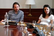 El secretario general de Podemos, Pablo Iglesias, e Irene Montero, en una imagen de 2019.