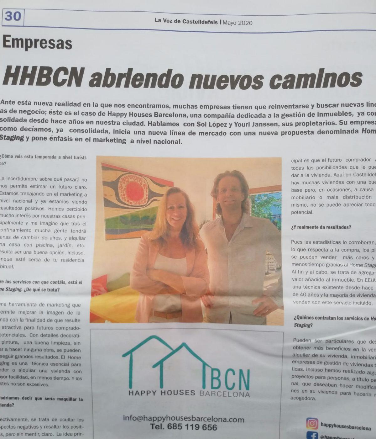 Publirreportaje en 'La Voz de Castelldefels'.