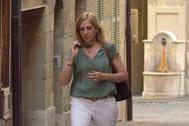 La Infanta Cristina, saliendo de su casa, en una imagen de archivo.