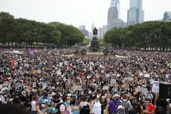 Una de las protestas en contra del racismo celebradas en Estados Unidos