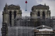 Las obras de Notre-Dame, esta mañana