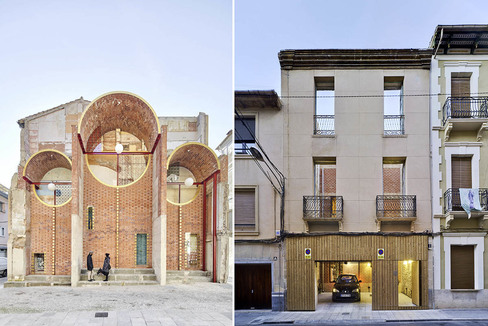 Escenografía urgente (izquierda) y Casa Mac.