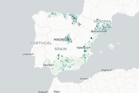 El mapa de la incidencia del Covid-19 en España, municipio a municipio