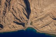 Área donde se construirá Neom, a orillas del Mar Rojo.