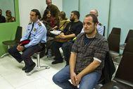 El mando policial durante su juicio con el ex diputado de la CUP Daniel Fernández