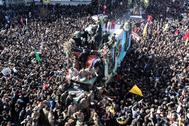 Funeral de Qasem Soleimani en Kerman (Irán).