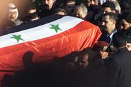 Bashar Asad, durante el entierro de su padre.