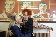 Johnny Rotten y Nora Forster, a finales de los 70.