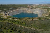 La corta de los Frailes en el yacimiento minero de Aznalcóllar.