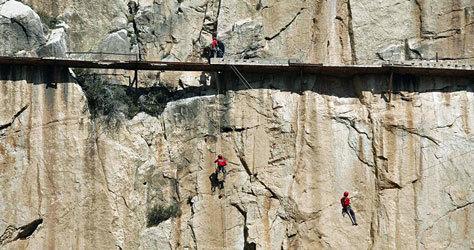 El lugar es una quimera para los escaladores.