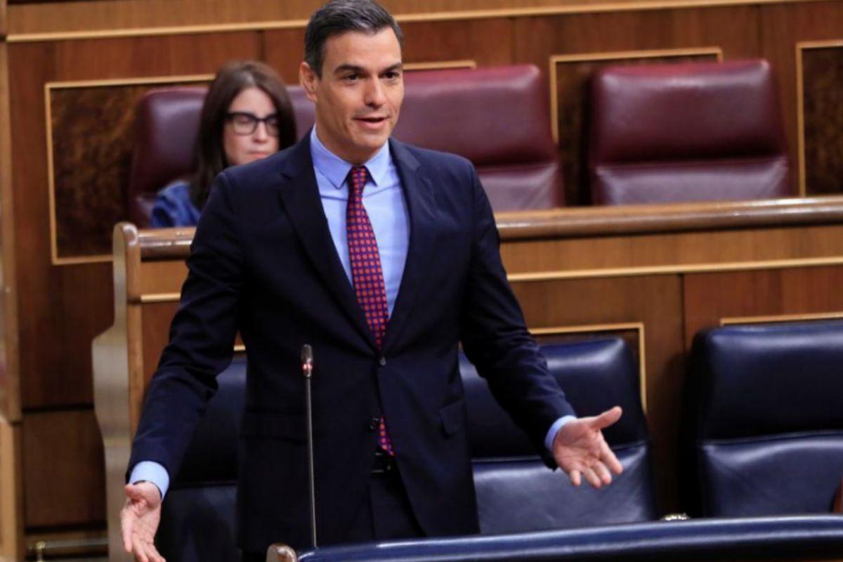 Pedro Sánchez, en la sesión de control.
