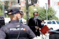 El delegado del Gobierno en Madrid, José Manuel Franco, este miércoles en los juzgados de la Plaza de Castilla.