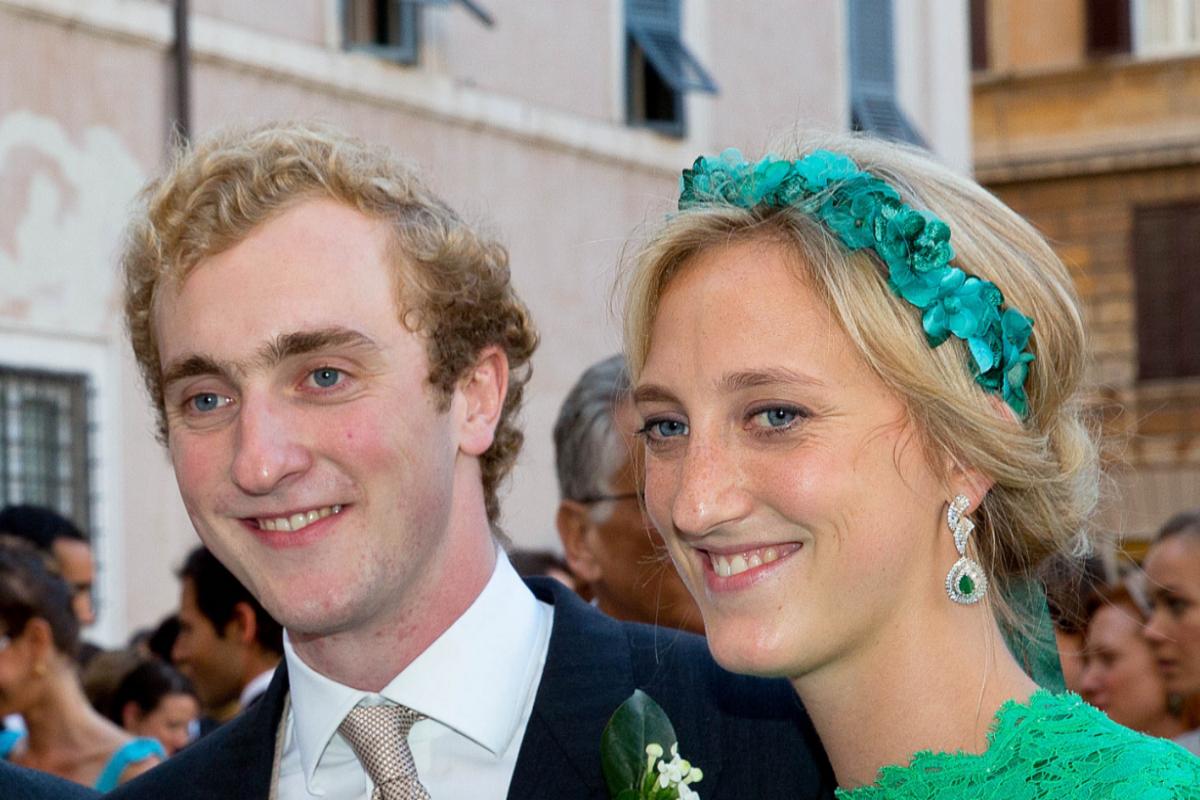Joaquín de Bélgica con su hermana María Laura.