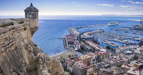 Vista panorámica de la ciudad de Alicante.