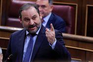 El ministro de Fomento, José Luis Ábalos, en el Congreso.