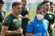 Joaquín, durante un entrenamiento reciente.