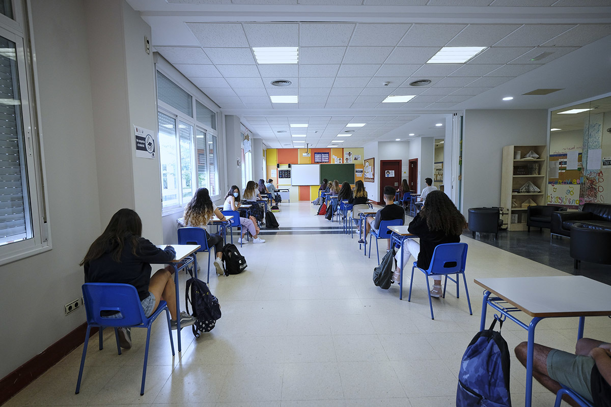 Alumnos del Colegio Alameda de Osuna de Madrid, esta semana.