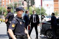 El delegado del Gobierno en Madrid, José Manuel Franco, este miércoles, a su llegada al juzgado.