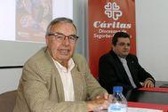 El director de Cáritas, José Manuel Aragonés, y el delegado diocesano de Cáritas, Sergio Mendoza.