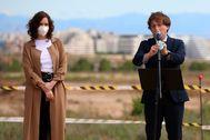 La presidenta de la Comunidad de Madrid, Isabel Diaz Ayuso, y el alcalde, José Luis Martinez Almeida, presentan el inicio de las obras de ampliacion de IFEMA.