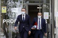 El delegado del Gobierno José Manuel Franco saliendo del juzgado.