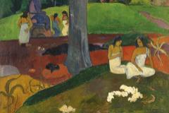 Un detalle de 'Mata mua, de Paul Gauguin.