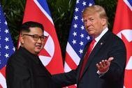 Trump y Kim en la cumbre 2018 en Singapur.