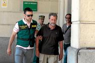 Federico Fresneda, ex tesorero de UGT-A, en agosto de 2014 tras ser detenido por la UCO.