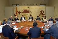 Reunión del Govern presidido por Puigdemont antes de las vacaciones del verano de 2017.
