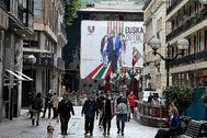 Imagen del centro de Bilbao, el pasado jueves.
