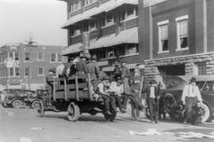 Redada policial contra protestas de esclavos negros en Tulsa, en 1921.