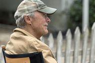Clint Eastwood durante el rodaje de 'La mula' (2018).