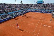 Djokovic, durante su partido del sábado ante Troicki.
