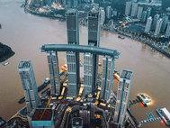 El rascacielos Crystal del complejo Raffles City Chongqing.