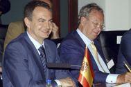 José Luis Rodríguez Zapatero y Raúl Morodo, en una imagen de 2015.