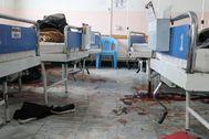 Imagen de la maternidad de MSF tras el ataque.
