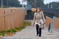 Forcadell saliendo de la prisión de Tarragona