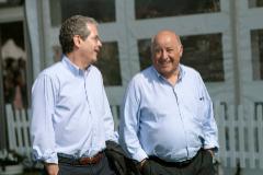 El presidente de Inditex, Pablo Isla, y el fundador, Amancio Ortega.