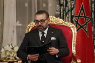 Mohamed VI, en Rabat, en febrero de 2019.