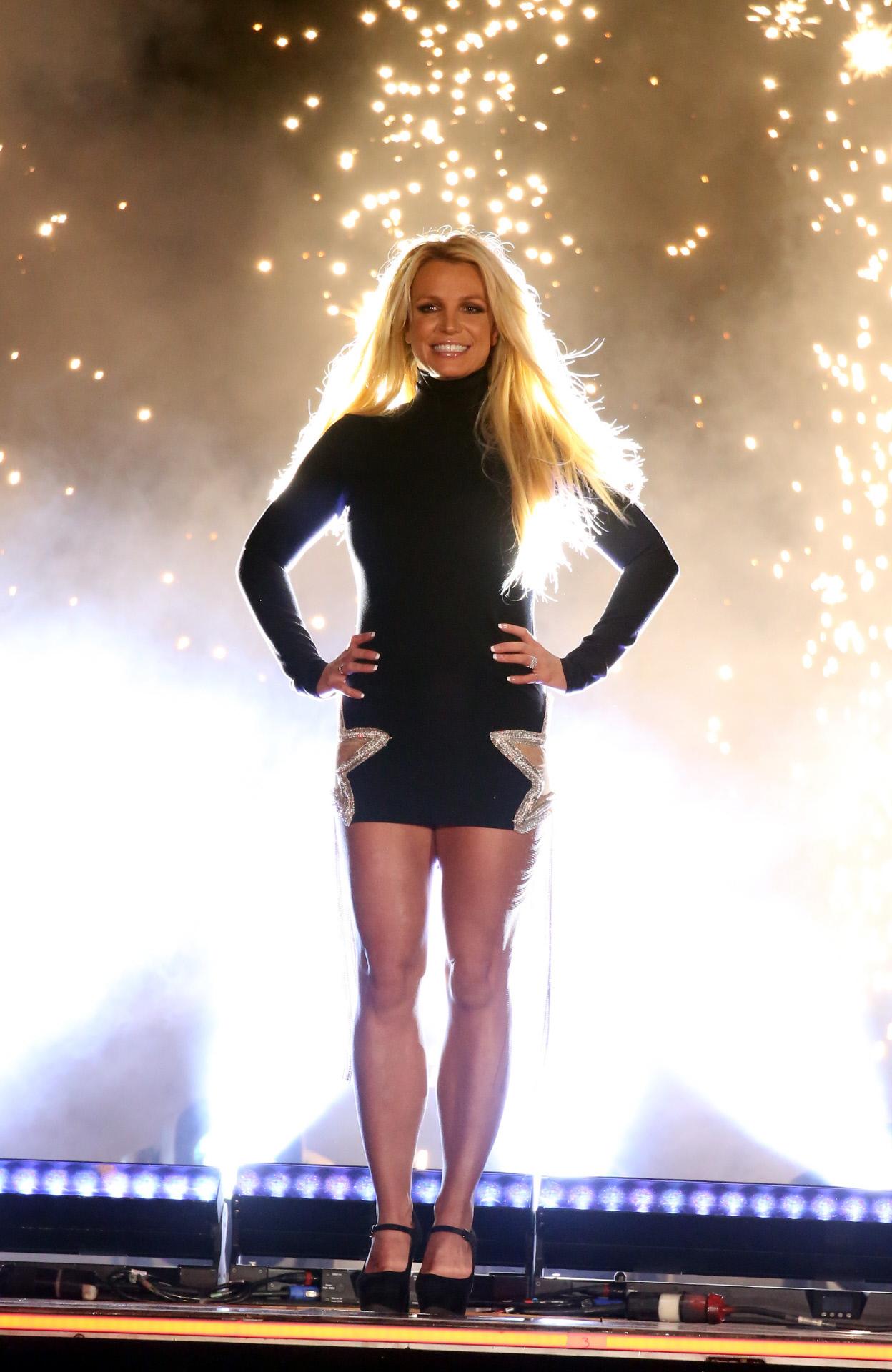 Spears, durante su residencia en Las Vegas, en 2018.