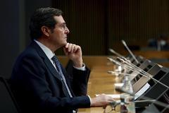 Antonio Garamendi, presidente de CEOE, durante la cumbre empresarial.