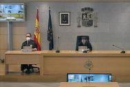 Un momento del juicio que se desarrolla en la Audiencia Nacional contra Trapero.