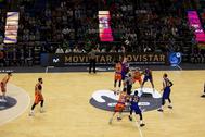 Una prueba del proyecto de StairMedia en la final de Copa del Rey de baloncesto.