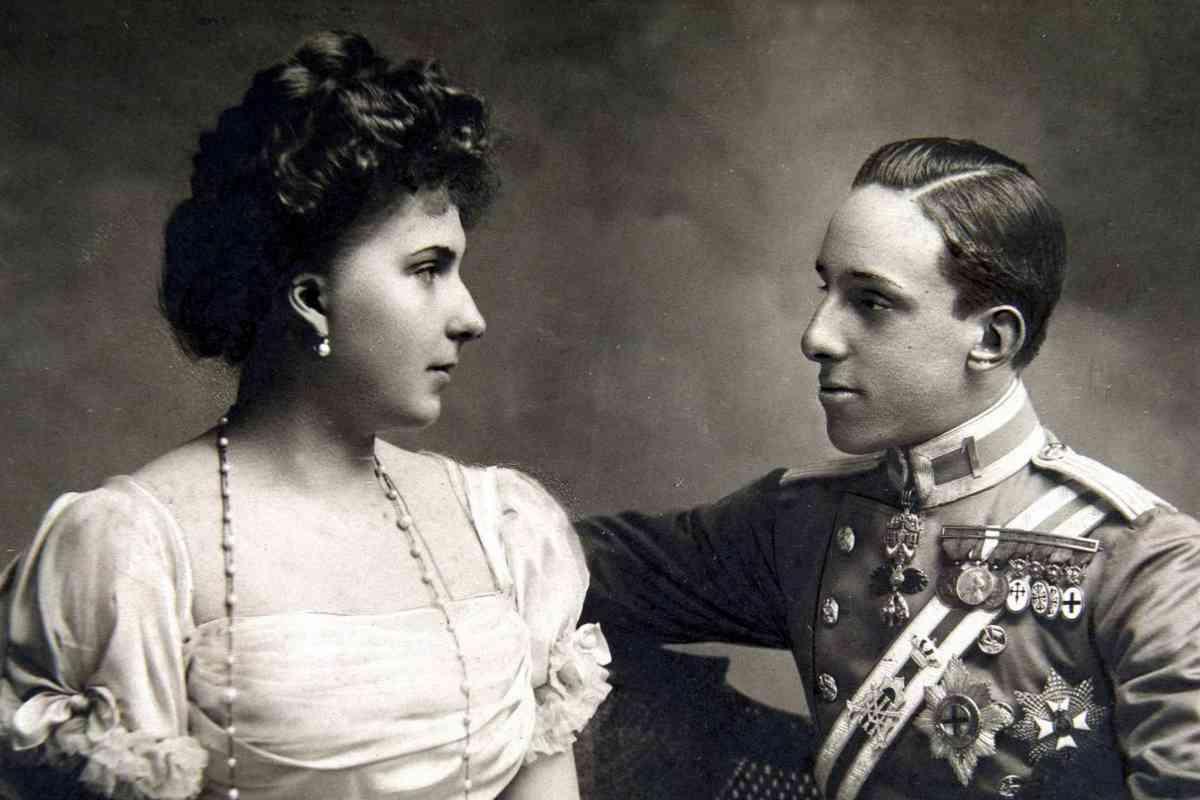 Victoria Eugenia de Battenberg y Alfonso XIII, antes de casarse.