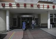 Entrada a Urgencias de un hospital de Madrid.