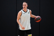 Klemen Prepelic, durante un entrenamiento del Joventut.